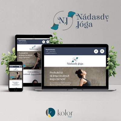 KOLOR dsgn portfólió Nádasdy jóga logo and webdesign