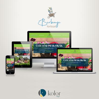 Berkenye Kertészet logó és webdesign | KOLORdsgn - webdesign