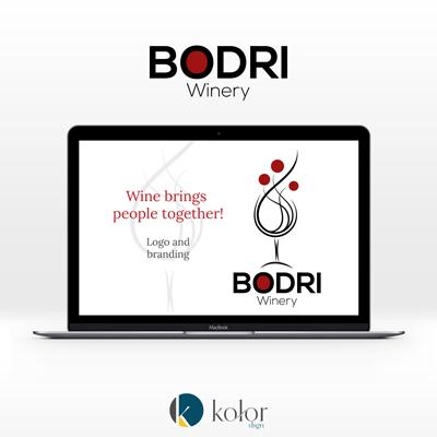 Bodri Pincészet logó- és arculattervezés | KOLORdsgn - webdesign