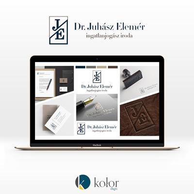 Dr. Juhász Elemér jogász logó- és arculattervezés | KOLORdsgn - webdesign