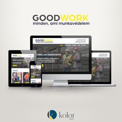 GoodWork munkaruházati üzlet logó és webdesign | KOLORdsgn - webdesign