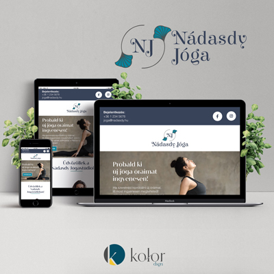 Nádasdy Jóga Stúdió logó és webdesign | KOLORdsgn - webdesign