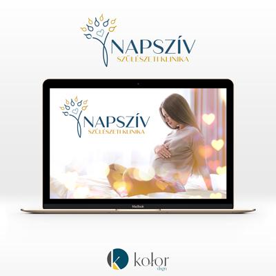 Napszív Szülészeti Klinika logó- és arculattervezés | KOLORdsgn - webdesign