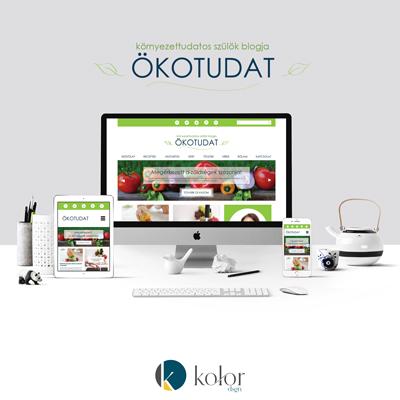 Ökotudat blog logó és webdesign | KOLORdsgn - webdesign