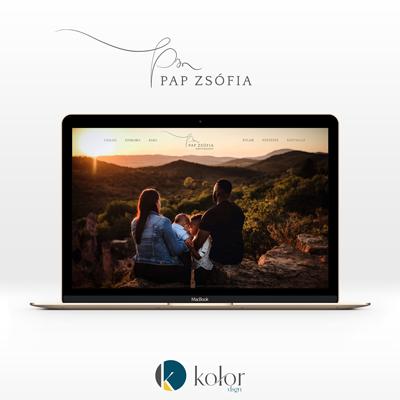 Pap Zsófia Photography logó és webdesign | KOLORdsgn - webdesign