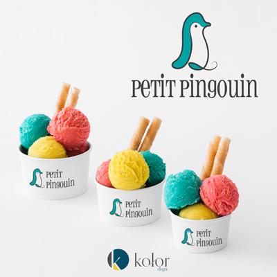 Petit Pingouin fagyizó logó és webdesign | KOLORdsgn - webdesign